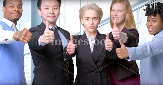 Emilia Clarke Shows Us How Proper Stock Photos Are Done