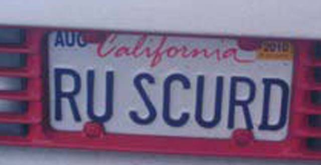 Vanity Plates With A Bit Of Comedy Added