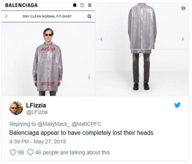 "Balenciaga Is Back With Another ""Slightly Interesting"" Piece Of Clothing"
