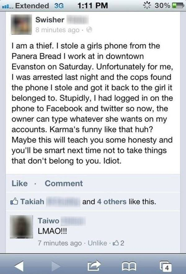 Gotta Love That Instant Karma