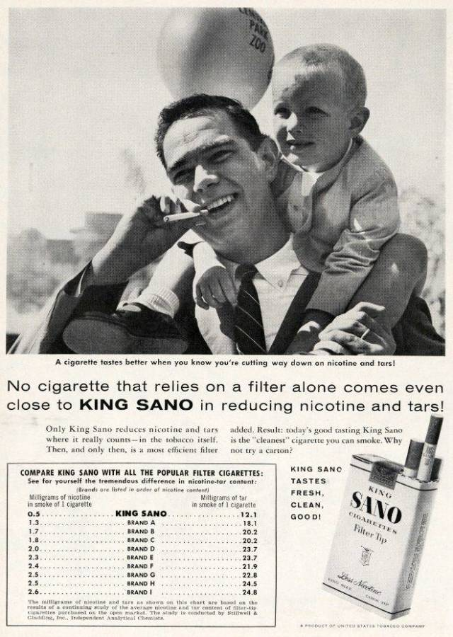 In Vintage Ads Of Cigarettes Kids Were Used Everywhere