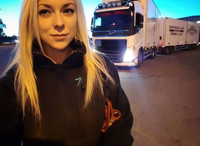 Isn't She An Adorable Truck Driver?