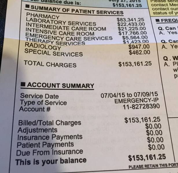 American Healthcare Doesn't Make Sense To Anyone