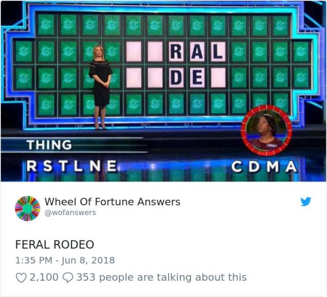 "The Only Correct Answers To ""Wheel Of Fortune"""