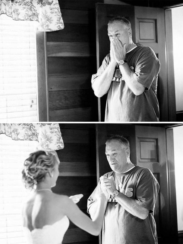 Dads Who Couldn't Contain Their Emotions After Seeing Their Daughters Become Brides