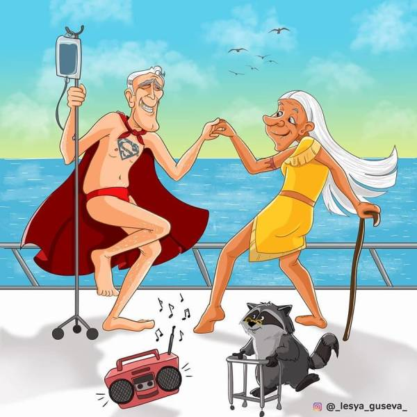 Russian Artist Imagines Superheroes In Their Old Age