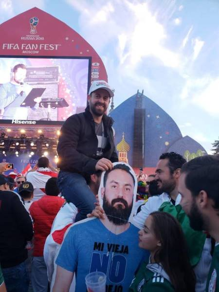 When Your Wife Doesn't Let You Go To The World Cup, You Go There As A Cardboard