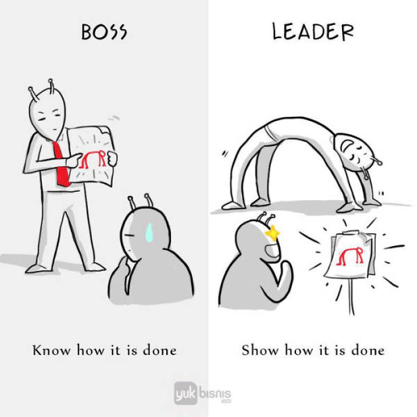 There Is A Night And Day Difference Between A Boss And A Leader