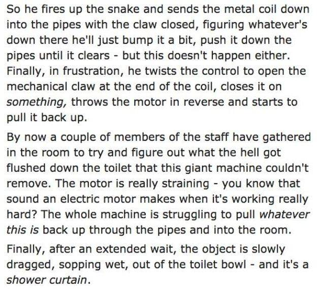 A Clogged Motel Toilet Turns Into An Action Drama