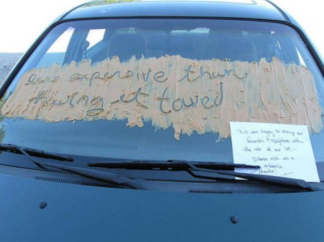 Passive Aggressive Notes Vs. Awfully Parked Cars
