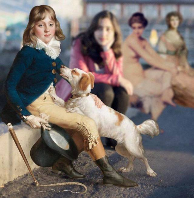 Characters From Famous Paintings Find Their Way Into The Real World
