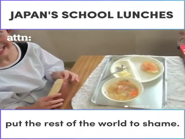 Who Wants A Japan's School Lunch Now?