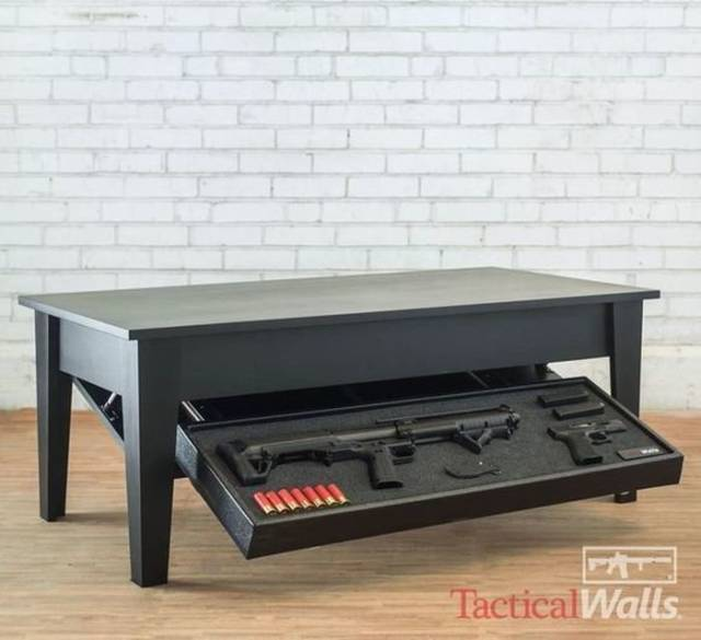 Furniture With Some Fire Power Hidden Inside