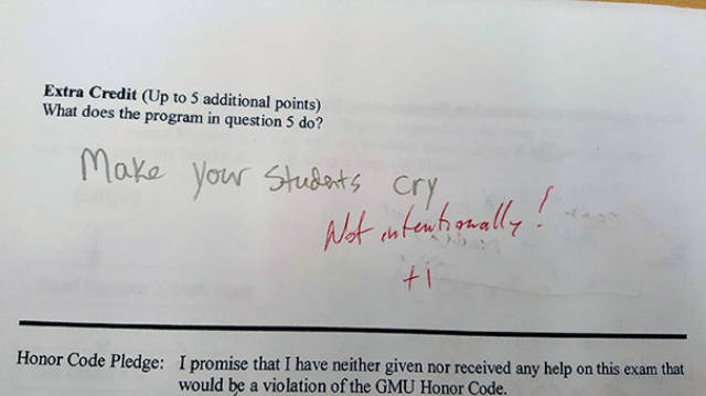 Students Gotta Have A Good Sense Of Humor To Get Through Everything…