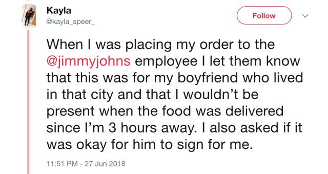 Cheating Revealed By… A Delivery Guy