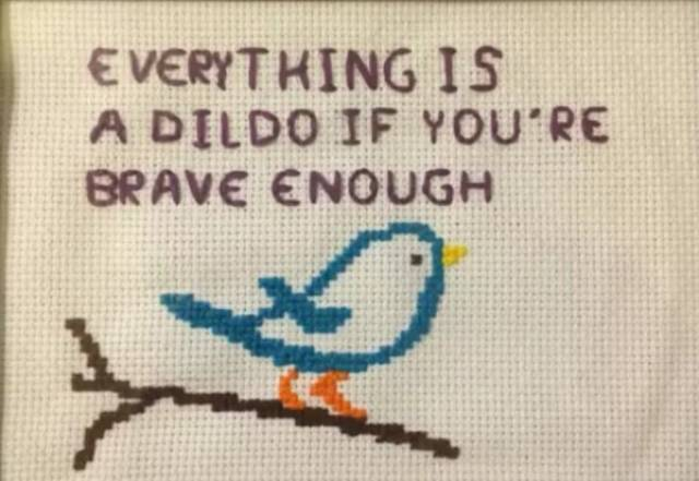 Who Knew That Cross Stitching Could Be So Badass?!