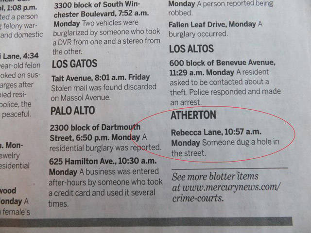 It Looks Like Chaos Reigns In Atherton, California