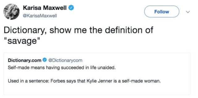 Dictionary.com Burns Kylie Jenner To Crisp