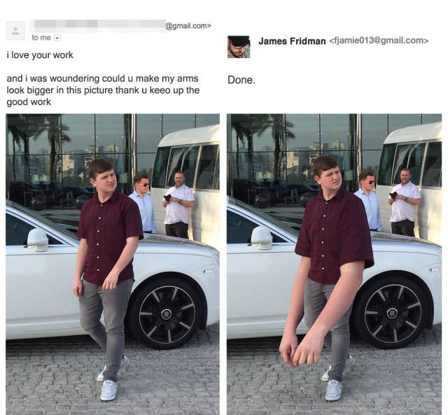 James Fridman, The Unrelenting Photoshop Troll