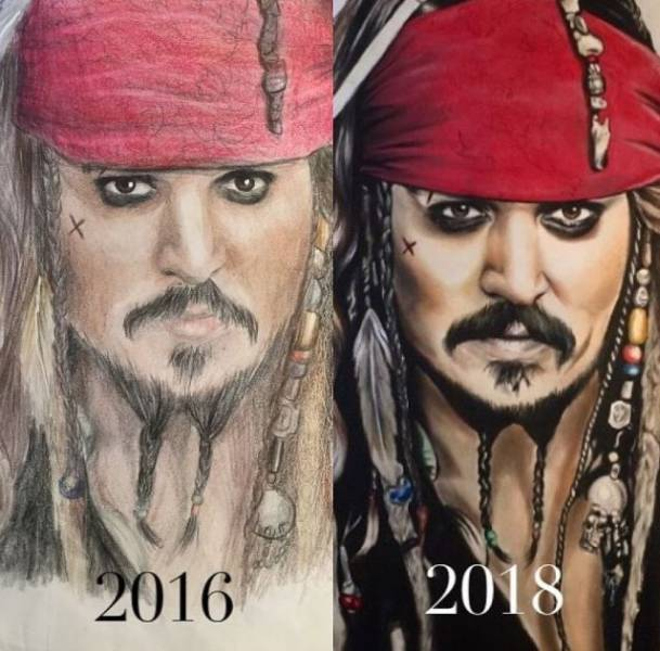 How Artists Improve Over The Years