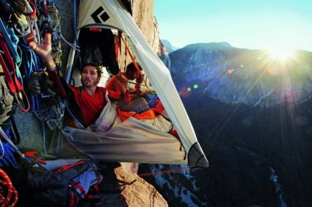 How Climbers Sleep When They're Hanging High In The Mountains