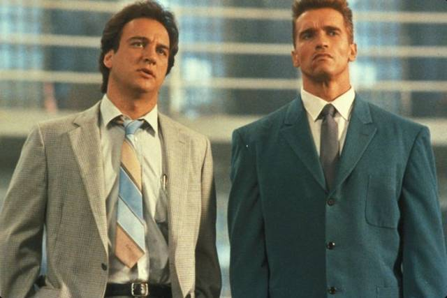 Arnold Schwarzenegger And James Belushi: Then And Now