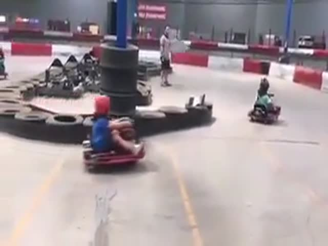 He Is Really Enjoying That Carting Session