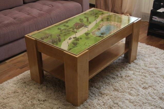 Sitting At This DIY Coffee Table Must Be A Real Pleasure