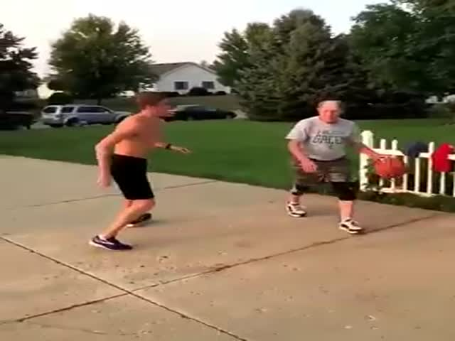 Old Man Is Just Too Good At Basketball