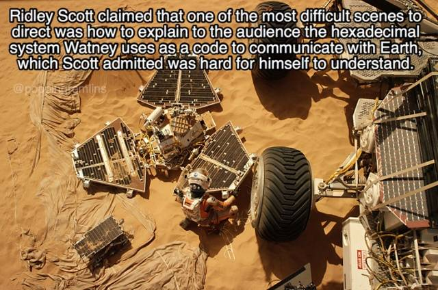 "Isolated Facts About ""The Martian"""