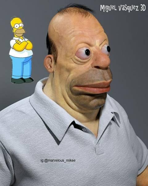Realistic Cartoon Characters Will Haunt Your Nightmares