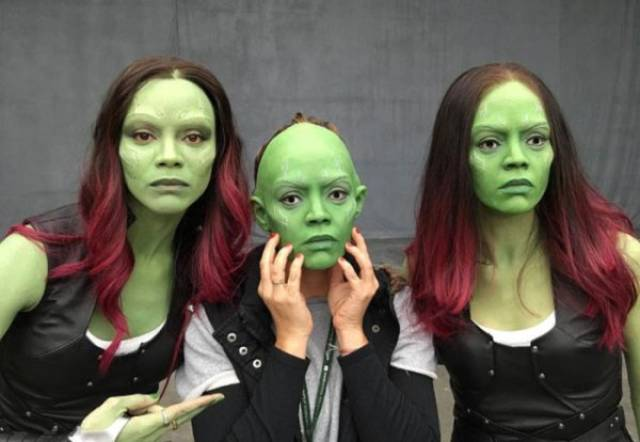 Actors Joined By Their Stunt And Body Doubles