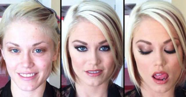 How Makeup Changes Pornstars