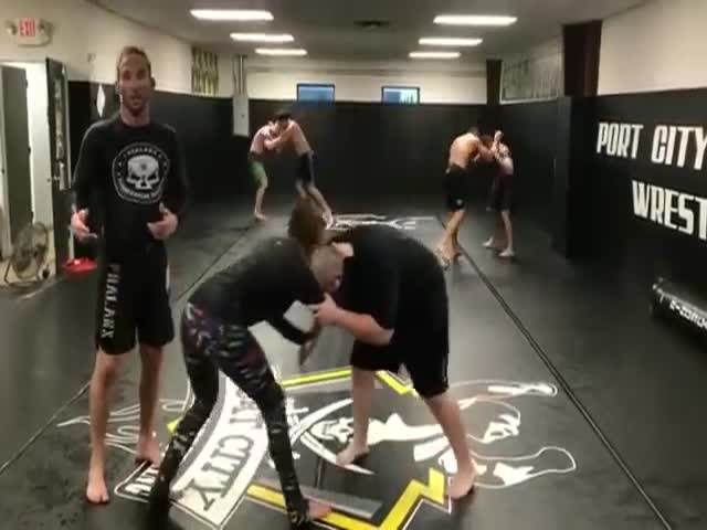 Now That's An Eventful MMA Training Session