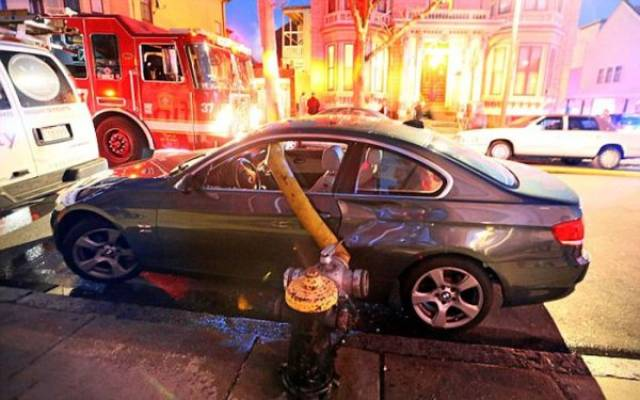 Parking In Front Of A Fire Hydrant Is A Very Bad Idea