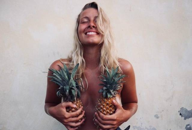 Pineapple Boobs Is A Trend That's Screaming Summer