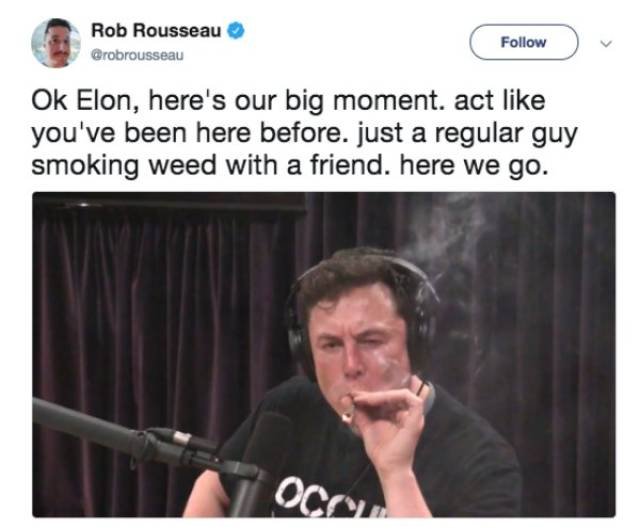 Elon Musk Smoking Weed Is The Hottest Meme Topic Right Now