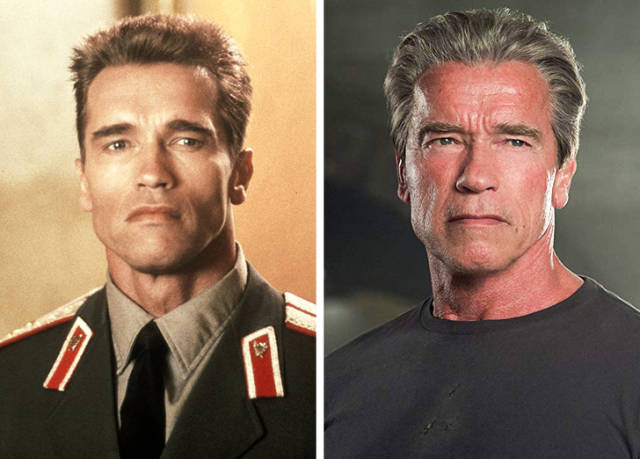 How Action Movie Stars Changed Since Their Prime At The End Of The Last Century