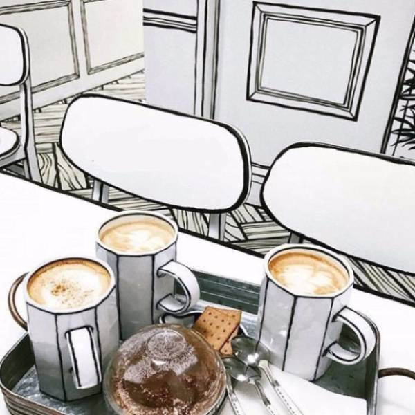 This Drawing Is Actually A South Korean Café