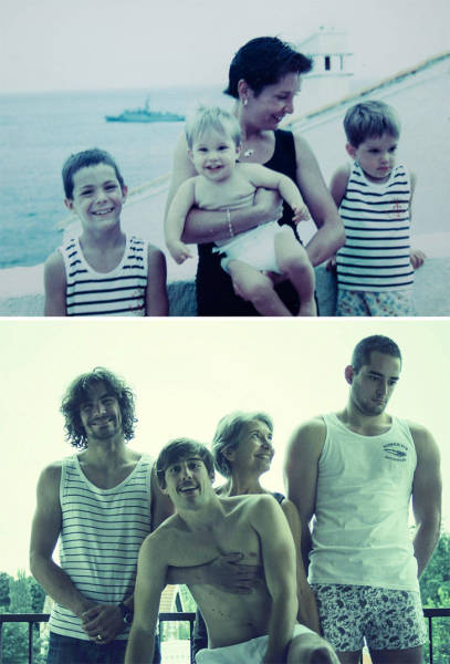 Recreated Childhood Photos Are Always The Sweetest