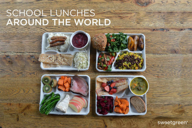 How School Lunches Look In Various Countries Around The World