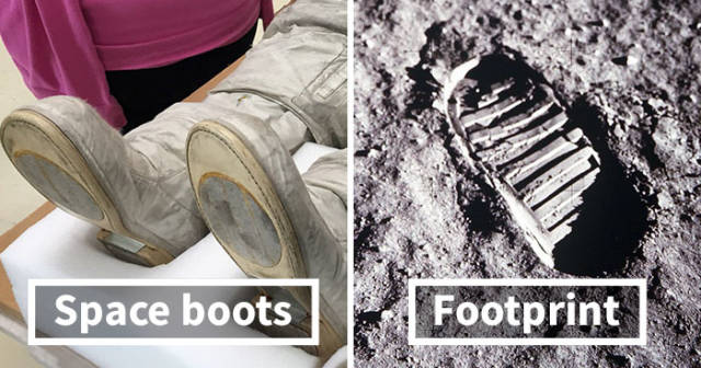 Some People Have Noticed That First Steps On The Moon Don't Match Neil Armstrong's Boots…