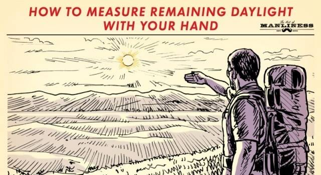 How To Approximately Measure Remaining Daylight Time With Just Your Hands