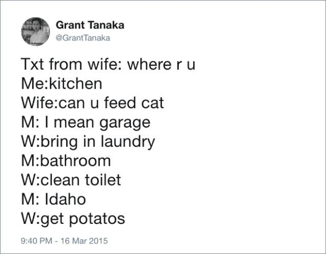 Marriage Is Mostly About These Funny Husband Tweets