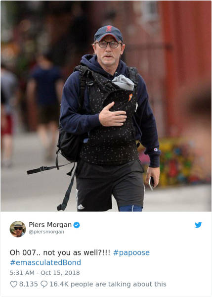Daniel Craig Gets Mocked For How He Carried His Baby, Internet Quickly Defends Him