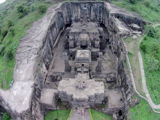 A Single Rock Was Used To Carve This Temple Out In The 8th Century