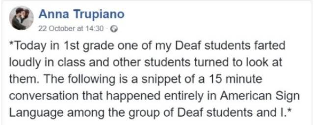 Deaf Kid Did Not Realize That Others Hear Him Fart