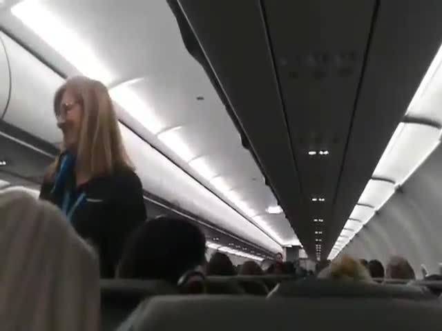 That Flight Attendant Really Loves His Work