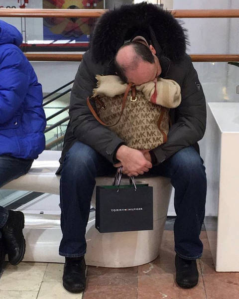 Men Who Know The Pain Of Shopping