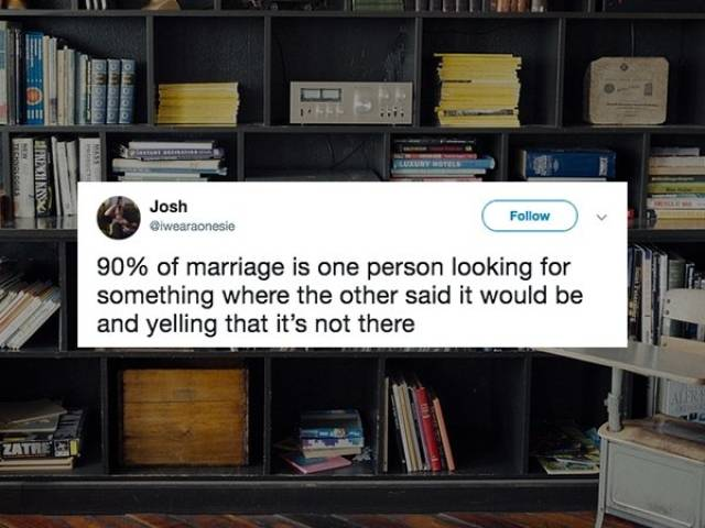 Who Knew That Marriage Fits Into Tweets